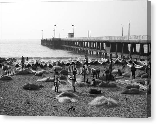 Nets A Pier Canvas Print