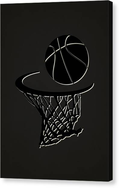Brooklyn Nets Canvas Print - Nets Team Hoop2 by Joe Hamilton