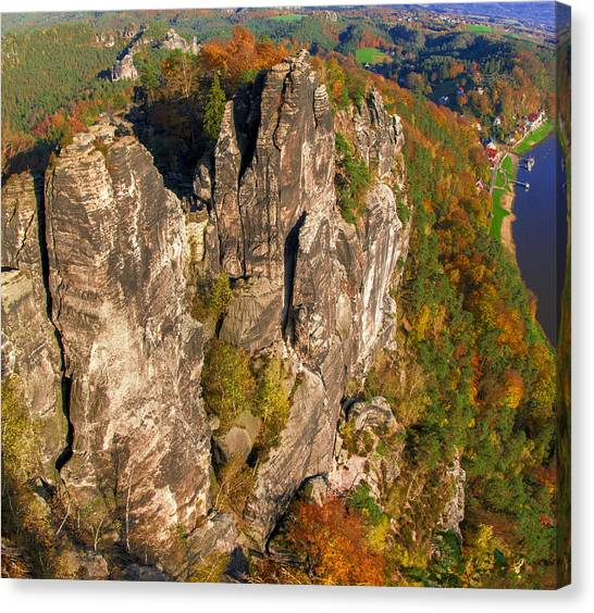 Neurathen Castle In The Saxon Switzerland Canvas Print
