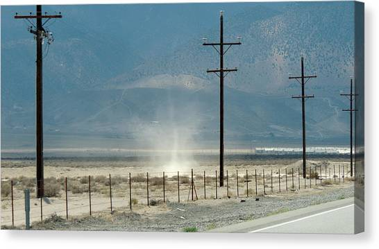 Nevada Dust Devil Canvas Print