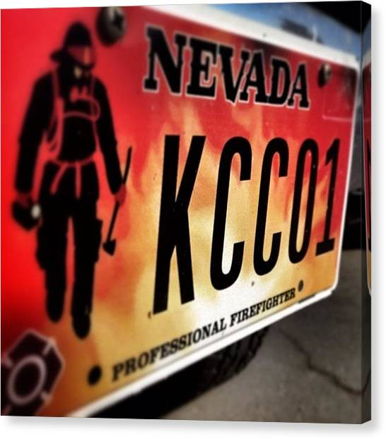 Firefighters Canvas Print - #nevada  #kcco  #iaff  #fire by James Crawshaw