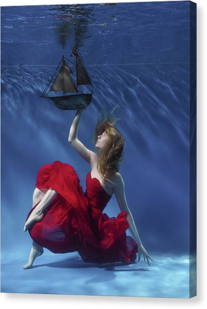 See Canvas Print - Never Let Go by Karen Jones