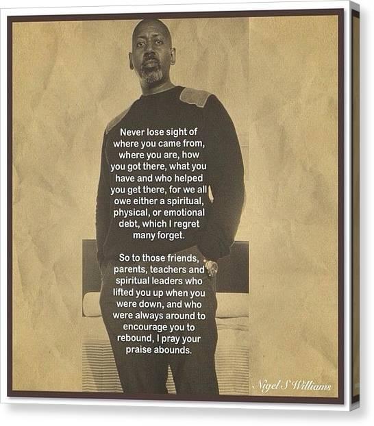 Teachers Canvas Print - Never Lose Sight by Nigel Williams