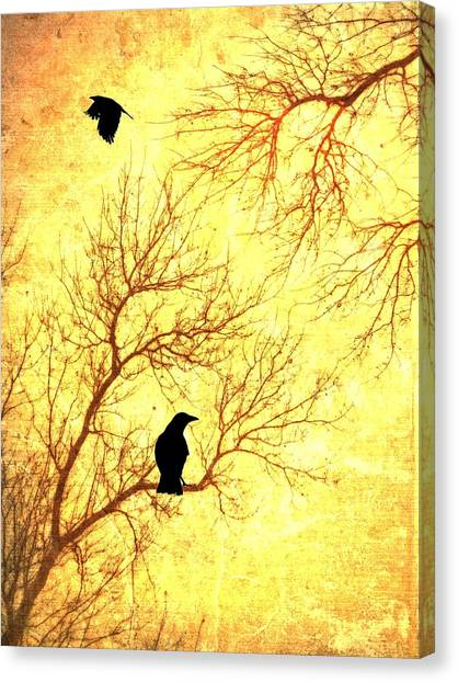 Creepy Canvas Print - Nevermore by Dan Sproul
