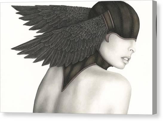 Poe Canvas Print - Nevermore by Pat Erickson