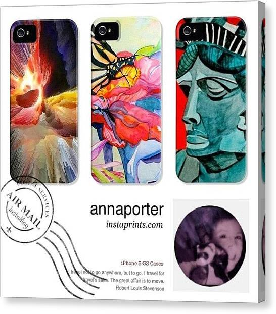 Apples Canvas Print - New Abstract Art Iphone 5-5s Cases by Anna Porter
