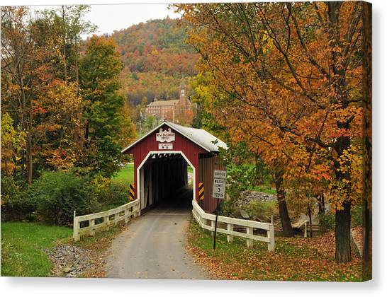 New Baltimore Covered Bridge Canvas Print