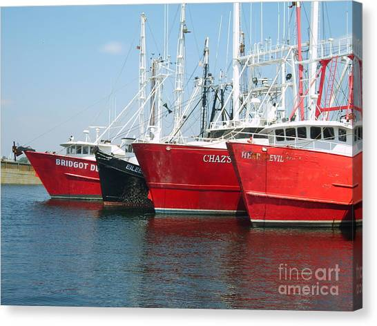New Bedford's Commercial Fishing Fleet Canvas Print