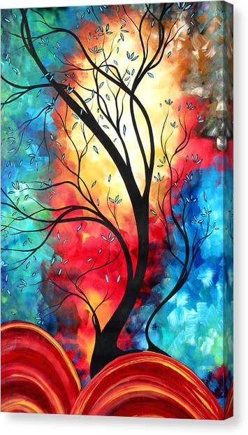 Canvas Print - New Beginnings Original Art By Madart by Megan Duncanson