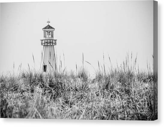 Lighthouses Canvas Print - New Buffalo Lighthouse In Southwestern Michigan by Paul Velgos