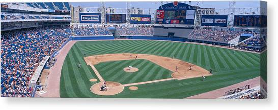 Pitching Canvas Print - New Comiskey Park, Chicago, White Sox by Panoramic Images