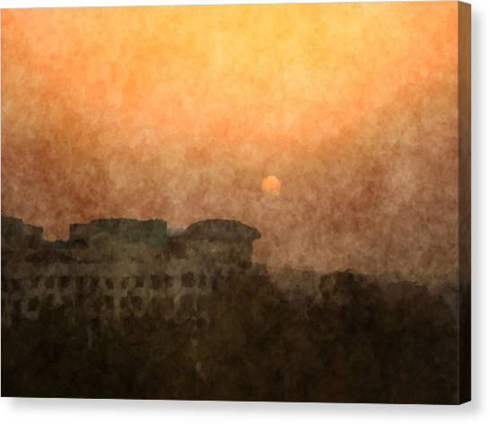 New Delhi Sunset Canvas Print