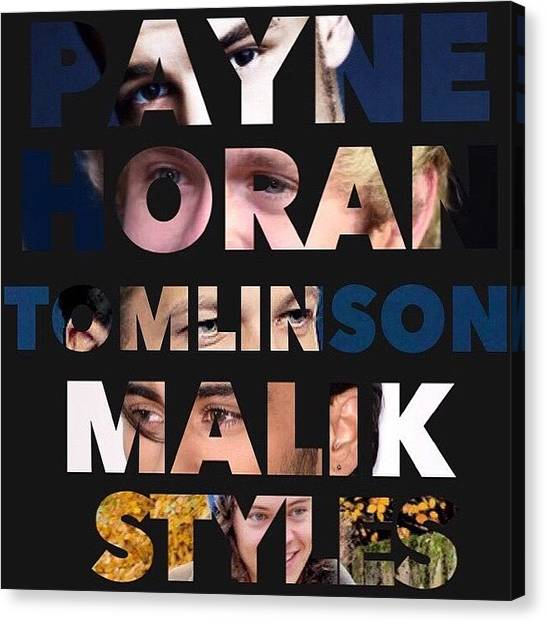 One Direction Canvas Print - One Direction by 5 Seconds Of Zayn