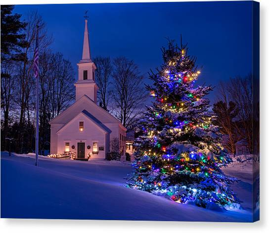 Marlow Canvas Print - New England Christmas by Michael Blanchette