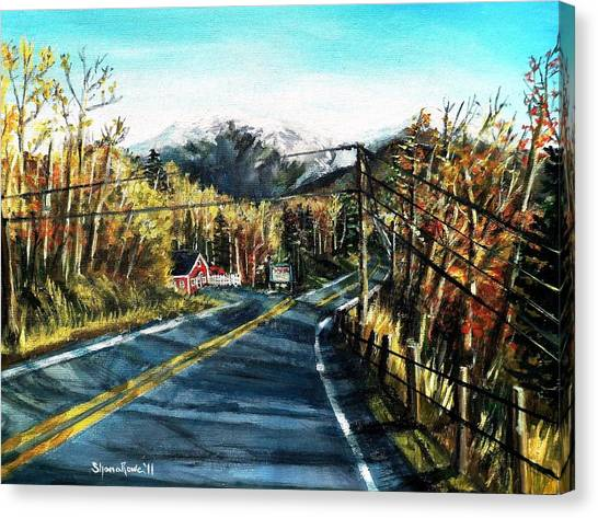 New England Drive Canvas Print