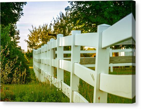 New England Fenceline Canvas Print