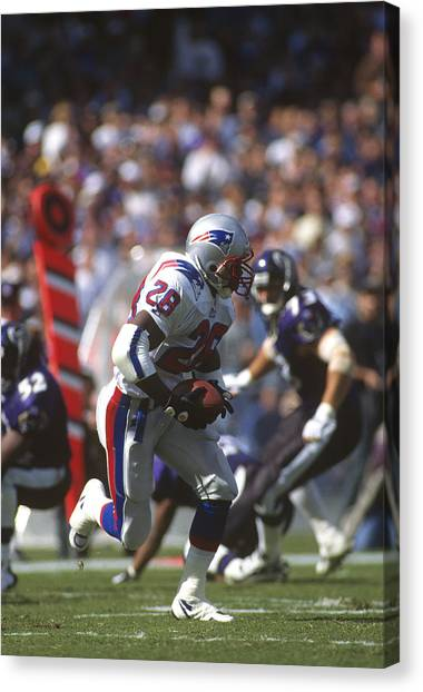 New England Patriots V Baltimore Ravens Canvas Print by Focus On Sport
