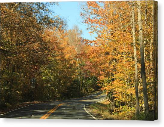 New England Road Canvas Print