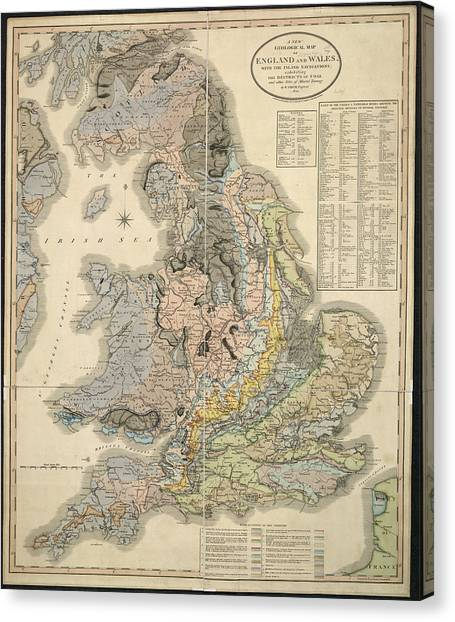 New England Revolution Canvas Print - New Geological Map by British Library