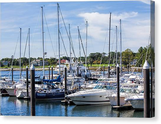 New Hampshire Marina Canvas Print