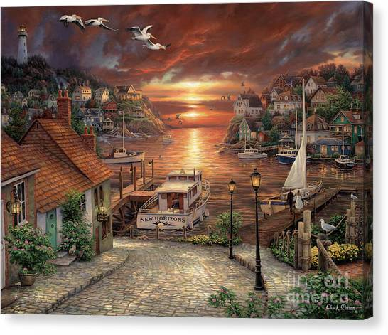 Marinas Canvas Print - New Horizons by Chuck Pinson