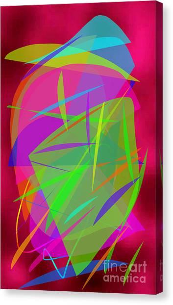 Canvas Print featuring the painting New Horizons by Ilona Svetluska