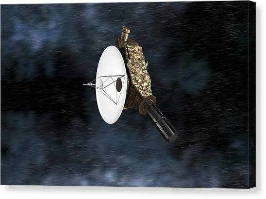 Pluto Canvas Print - New Horizons Spacecraft by Take 27 Ltd
