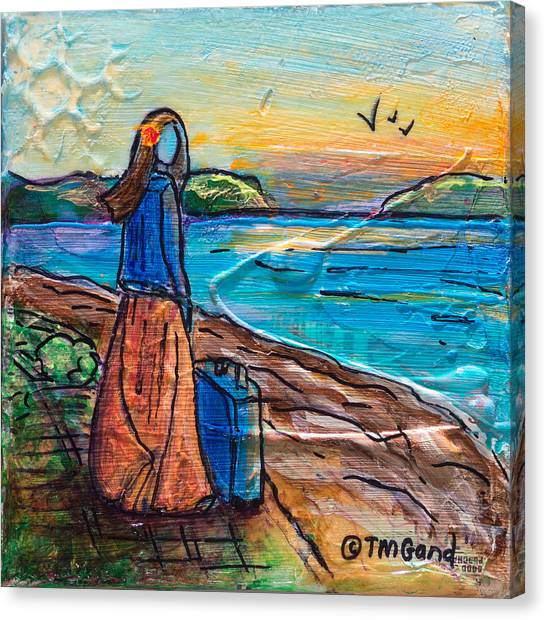 Canvas Print featuring the painting New Horizons by TM Gand
