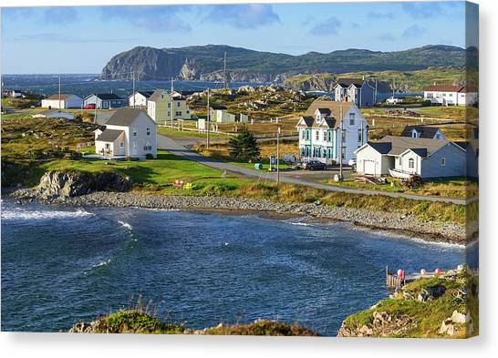Newfoundland And Labrador Canvas Print - New Houses In Twillingate, Newfoundland by Panoramic Images