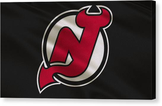 New Jersey Devils Canvas Print - New Jersey Devils Uniform by Joe Hamilton