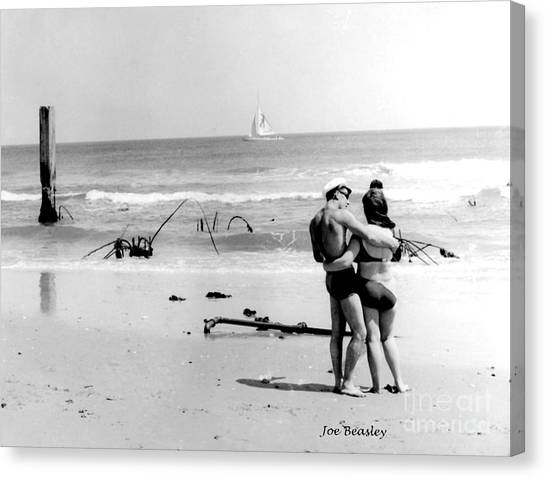 New Jersey Shore  1964 Canvas Print by   Joe Beasley