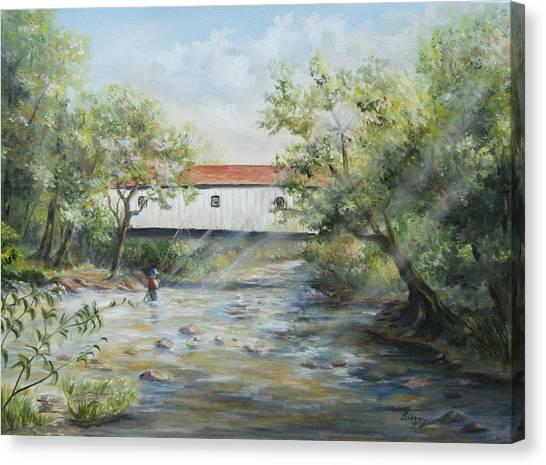 New Jersey's Last Covered Bridge Canvas Print