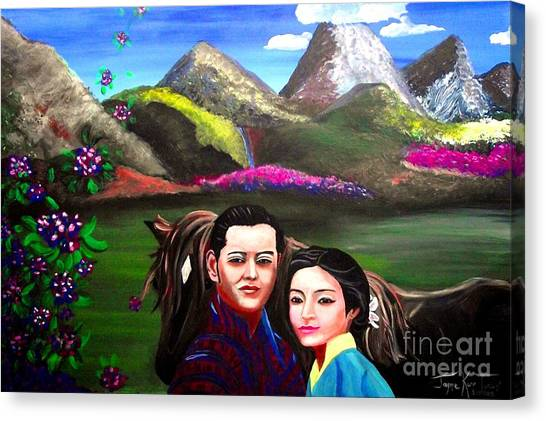 New King And Queen Of Bhutan Canvas Print