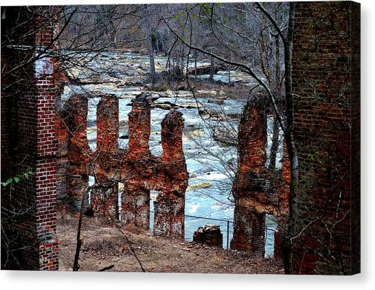 New Manchester Manufacturing Company Ruins Canvas Print