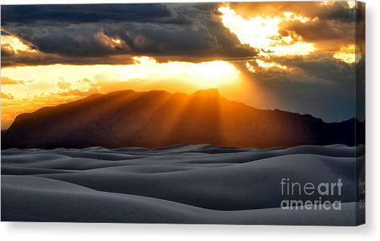 Canvas Print featuring the photograph New Mexico Desert by Brian Spencer