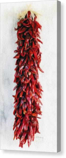 New Mexico Red Chili Art Canvas Print