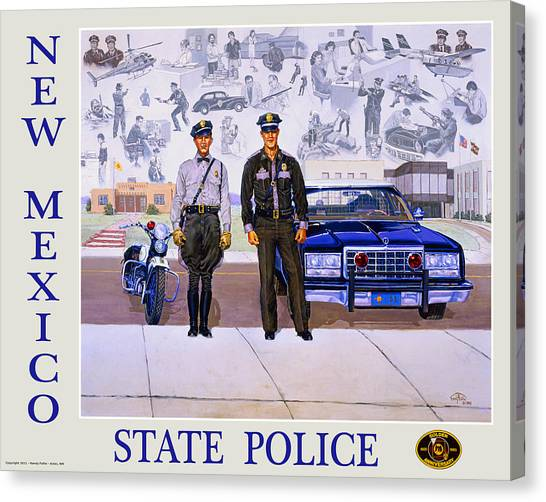 Police Car Canvas Print - New Mexico State Police Poster by Randy Follis