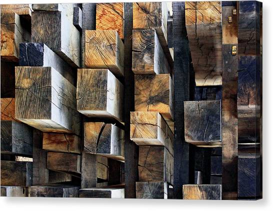 Construction Canvas Print - New Oak City by Francois Casanova