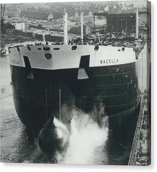 New Oil Tanker Launched Canvas Print by Retro Images Archive