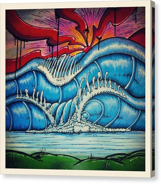 Surfing Canvas Print - New One Finished. #surfart by Gavin Mccrea