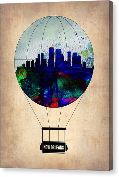 Mississippi Canvas Print - New Orleans Air Balloon by Naxart Studio