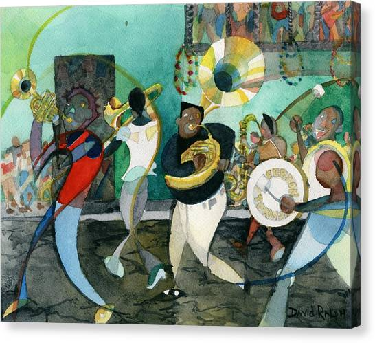 New Orleans Brass Band Jazz Canvas Print