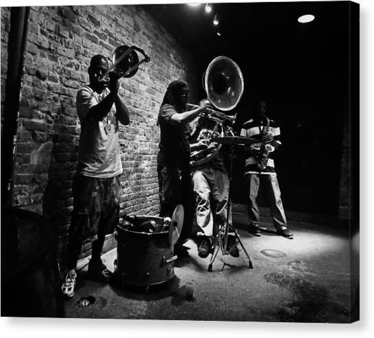 New Orleans Brass Band Canvas Print