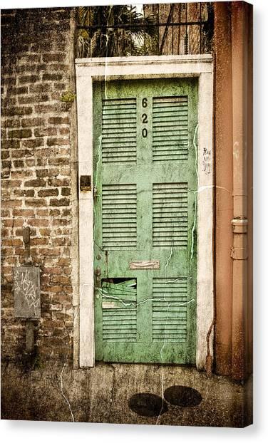 New Orleans Doorway Canvas Print by Ray Devlin