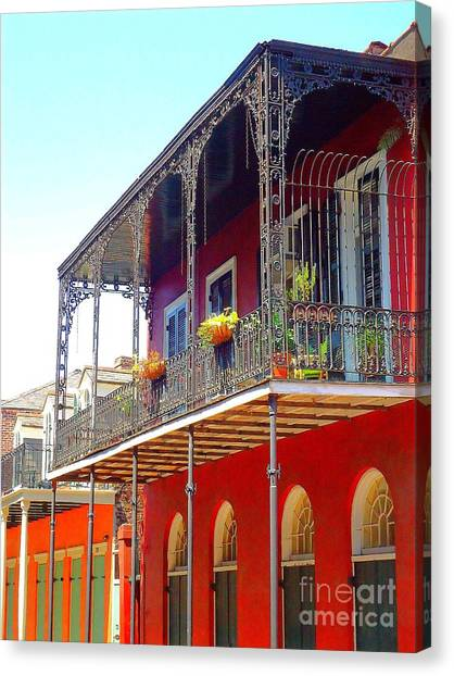 New Orleans French Quarter Architecture 2 Canvas Print