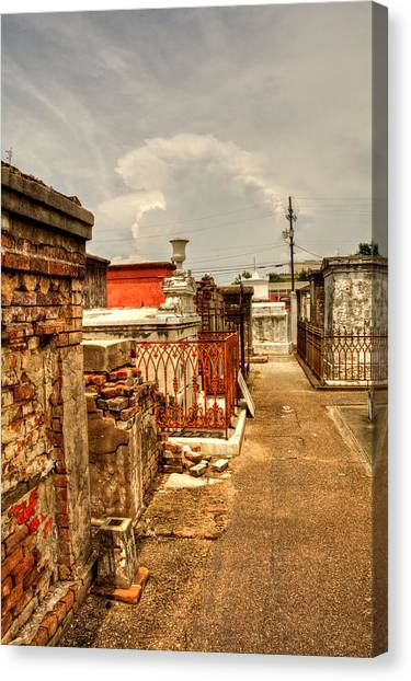 New Orleans Graveyard Canvas Print