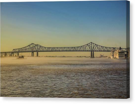 Cruise Ships Canvas Print - New Orleans, Louisiana by Jolly Sienda
