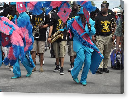 New Orleans Second Line Canvas Print