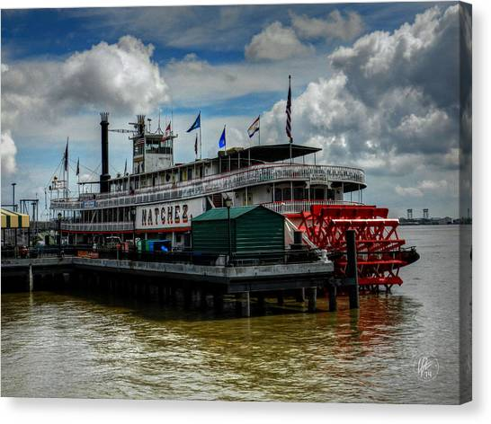 New Orleans - Steamboat Natchez 001 Canvas Print by Lance Vaughn