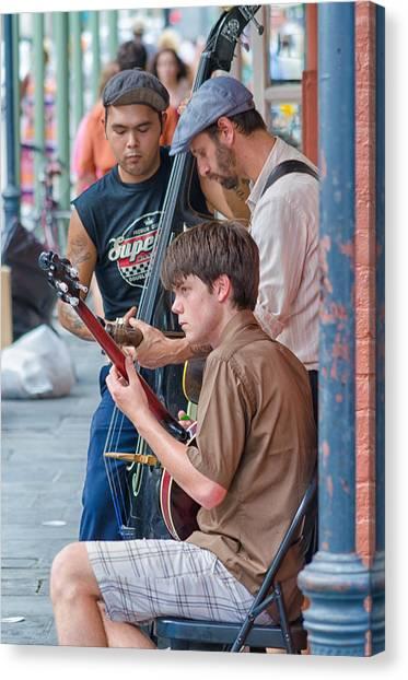 New Orleans Street Trio Canvas Print